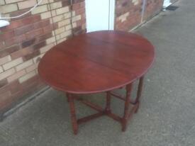 Solid wood extending folding dining table