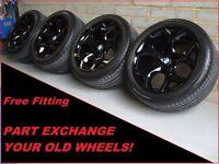 "1665 Genuine 20"" BMW 214 Y Spoke Black X5 E53 X6 E71 E72 Alloy Wheels & Tyres"