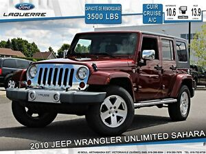 2010 Jeep WRANGLER UNLIMITED SAHARA**CUIR*CRUISE*A/C**