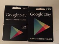 Google Play vouchers - £35 for £25