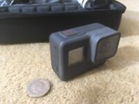 GoPro Hero5 Black, hard case, 64GB micro SD card