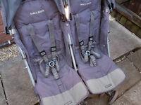 Maclaren techno xt double stroller, grey, good condition, CAN DELIVER