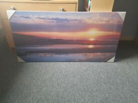 Sunset Canvas Picture