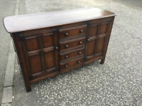 Ercol Dresser . In good condition . With 4 drawers and 2 cupboard's for storage Free Local Delivery
