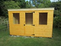 10ft x 6ft loglap pent roof garden shed for sale new unused quality made