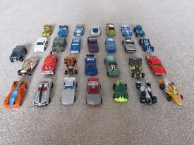 Assorted Hot Wheels cars and track (main photo only shows cars - see other photos for track)