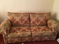 Duresta sofa and two chairs
