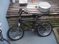 Kids silver/black BMX for sale