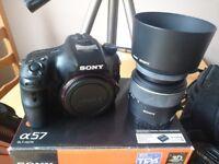 Sony A57 + tripod + extras