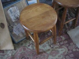 MODERN ORNATE MATCHING SET OF 6 SOLID PINE STOOLS. VIEWING/DELIVERY AVAILABLE