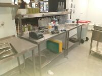 Catering equipment commercial stainless steel prep tables metal