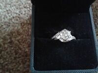9 ct White Gold Diamond Cluster Engagement Ring, absolutely stunning.