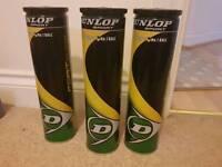 Brand New 3 Tins Dunlop Tennis balls