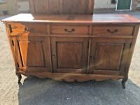 Indonesian Hardwood 3 Door Sideboard With 3 Drawers - Farmhouse Style