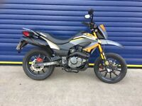 2015 KEEWAY TXM 125 SUPERMOTO MOTORBIKE , HPI CLEAR , 12 MONTHS MOT , GOOD CONDITION