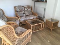 Daro Cane Conservatory Furniture - Excellent Condition