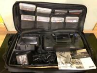 Sega Game Gear with 8 Games, carry bag etc