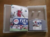FIFA 99 - Nintendo 64 football game with instructions & storage display box