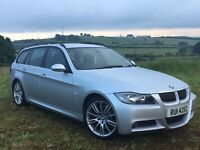 2006 BMW 330D M SPORT ESTATE DIESEL MANUAL MOTD LEATHER EXCELLENT CONDITION FULL SERVICE HISTORY
