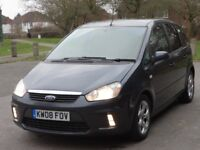 2008 Ford C-Max 1.6 TDCi Zetec 5dr, 2 Years Nationwide Warranty, not nissan honda vw audi seat