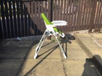 Mamas and Papas Zero 3 high chair in lime green