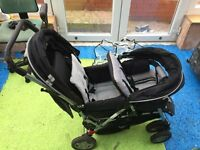 Twin seater pram in good condition