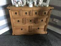 Rustic sideboard corner unuit console table and small table