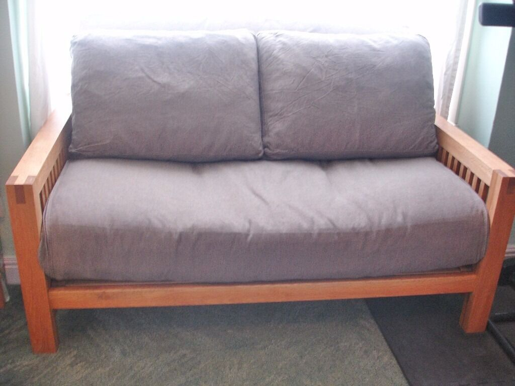 Futon Company Oak Oke Double Futon Sofa Bed Upgraded Mattressin Gillingham, KentGumtree - Futon Company Oke Futon which has a solid oak frame, that is in fantastic condition and recently oiled. The futon comes with the upgraded, three panel mattress and two back cushions. There are separate brown covers for the mattress and cushions which...
