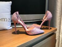 Pink diamonte shoes