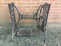 Vintage Cast Iron Singer Sewing Table Base