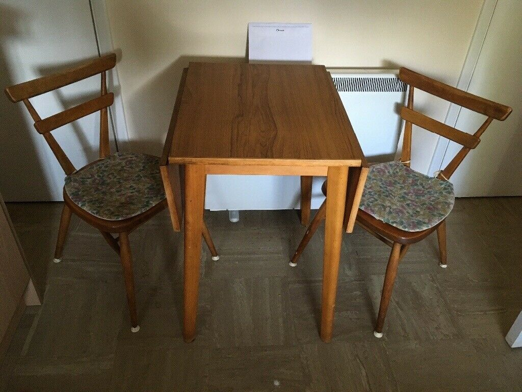 Small Solid Wood Drop Leaf Table And 4 Chairs In Norwich Norfolk Gumtree