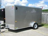 "6 x 12 + 18"" VNOSE ENCLOSED UTILITY TRAILER - RAMP - STK# 1557"