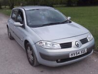 2004 RENAULT MEGANE 1.5 DCI, MOT OCTOBER 2017, ONLY 53,000 MILES, FSH, CAMBELT DONE, £20 YEARS TAX