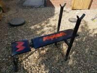 Weider weight training flat bench
