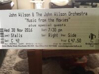 John Wilson & The John Wilson Orchestra Music from the Movies - Unable to go to concert