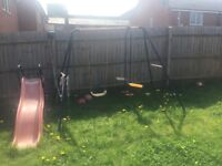 Three in one Slide swing seesaw good condition must collect and dismantled by buyer