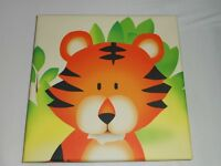 2 x CANVAS PICTURES OF SAFARI ANIMALS – LION & TIGER