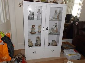 Gloss White Display Cabinet