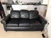 3 Seat Faux Leather Sofa, Excellent Condition