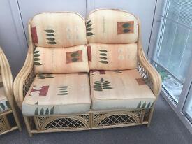 "Cane Conservatory Furniture ""Summer Castle"" Cadiz Suite in Honey Finish"