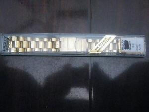 Hadley Roma MB4485Y 22mm Mens Gold Plated Solid Link Straight End Wrist Watch Band. NEW