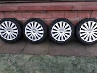 Genuine vw Audi alloy wheels17 inch pcd 5x112