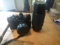 Zenith 35mm camera and 80-200 lens