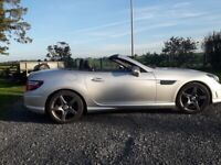 Mercedes-Benz, SLK, Convertible, 2013, Semi-Auto, 2.2L, 2 doors, silver