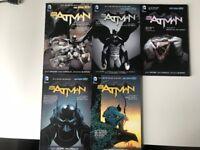 Batman New 52 Volumes 1 to 5 comics