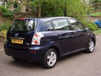 EXCELLENT DIESEL 7 SEATER! 57 REG TOYOTA COROLLA VERSO 2.2 D-4D T3 5dr 6 SPEED, 1 YEAR MOT, WARRANTY