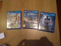 PS4 Games: Fifa17, Final Fantasy XV, Uncharted 4