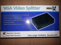 2 Port VGA Video Splitter (New)