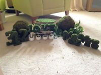 £50 Wedding decorations, nature, rustic, moss theme. Used to decorate tables and room.