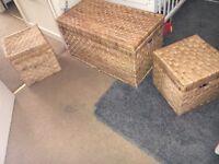 Wicker large storage